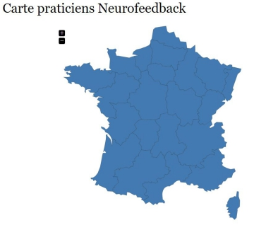 Carte de France Neurofeedback Tanagra
